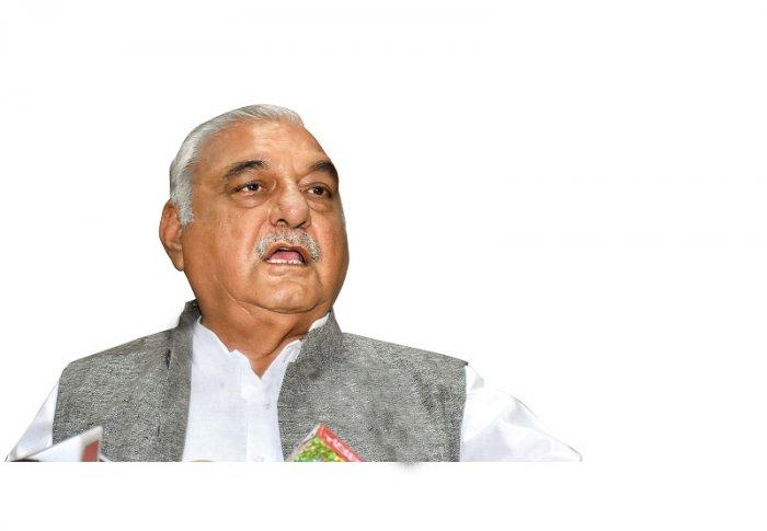 Former Haryana chief minister Bhupinder Singh Hooda. (PTI Photo)