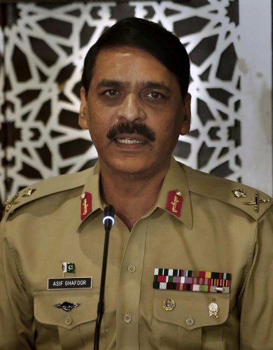 Pakistan's military spokesman Maj. Gen. Asif Ghafoor. AP/PTI Photo