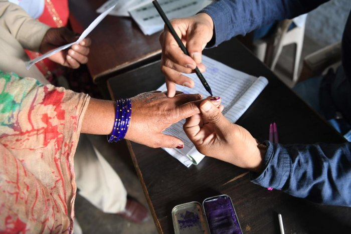 By-elections were necessitated in Radhanpur and Bayad due to the resignations of sitting Congress MLAs Alpesh Thakor and Dhavalsinh Zala, who quit the Congress and joined the BJP. Representative Photo/AFP