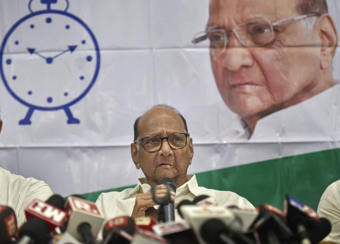 File PTI Photo of NCP President Sharad Pawar