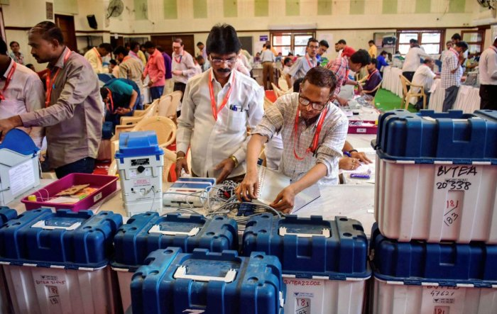 Fifty-nine VVPAT machines, 34 control units and 19 ballot units (EVMs) were replaced due to technical glitches in 12 assembly constituencies of the district. (PTI File Photo)