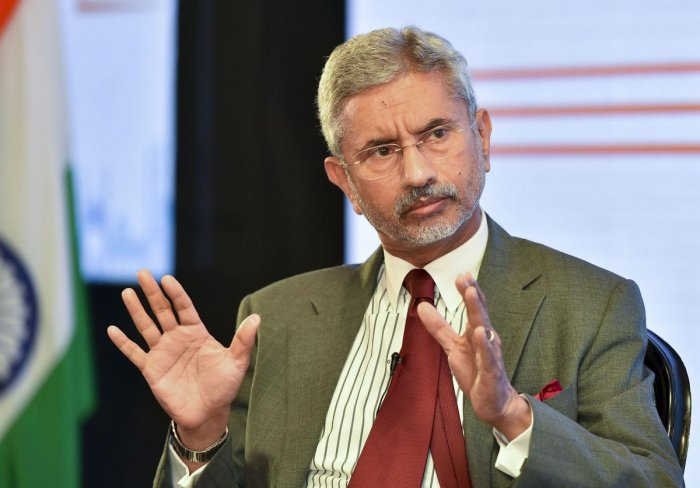 External Affairs Minister S Jaishankar speaks at the 2nd Annual India Leadership Summit, hosted by US-India Strategic and Partnership Forum (USISPF) with its theme 'Partners of Growth' in New Delhi on Monday. (PTI Photo)