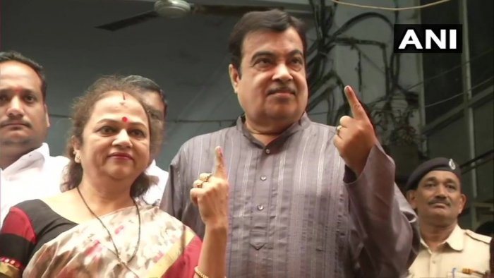 Gadkari, who was among the early voters in Nagpur, said people will vote on the basis of the five-year performance of the Narendra Modi government at the Centre and the Devendra Fadnavis-led dispensation in Maharashtra. Photo/ANI