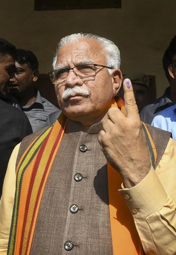 Khattar said he had a lively interaction with co-passengers during his train journey to Karnal. PTI