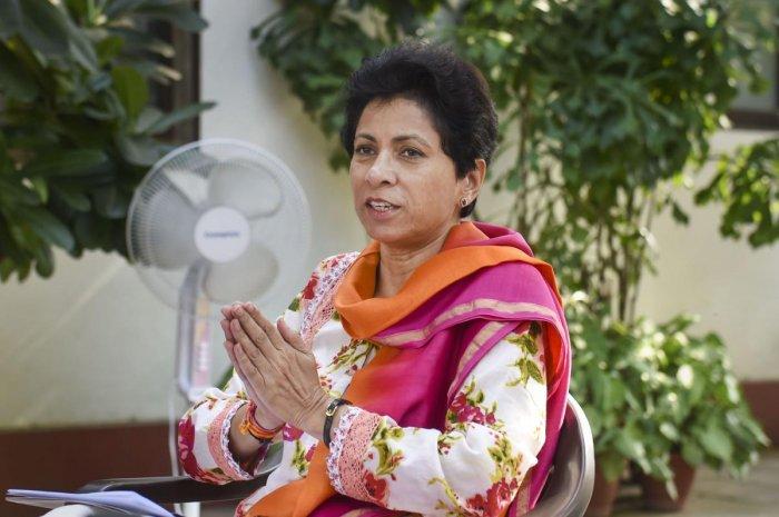 Haryana Congress president Kumari Selja