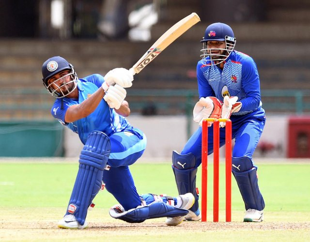 Karnataka skipper Manish Pandey, who has been in sizzling form, will be eyeing another strong knock in the semifinals against Chhattisgarh on Wednesday. DH PHOTO/ SRIKANTA SHARMA R