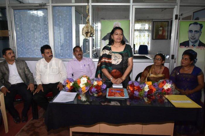 Dr Parvathi Appaiah took charge as the chairperson of Karnataka Kodava Sahitya Academy in Madikeri.