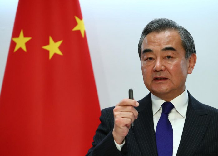 """""""What is happening in Hong Kong today are in no way peaceful protests,"""" Wang Yi said during the interview with AFP during a trip to Paris on Monday. Reuters file photo"""