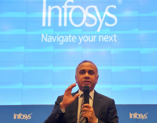 Infosys CEO and MD Salil Parekh. DH Photo