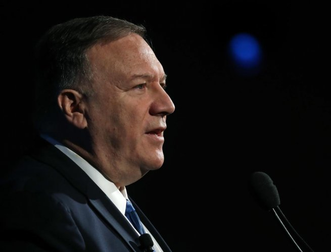Secretary of State Mike Pompeo delivers remarks at the Heritage Foundation annual President's Club meeting. AFP/Getty