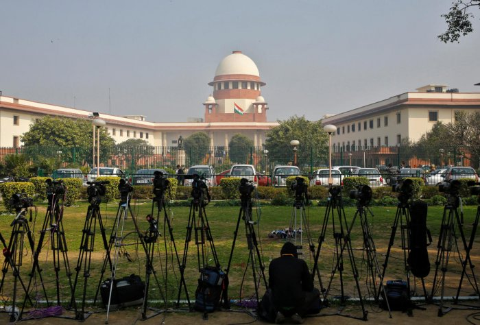 A bench of Justices Deepak Gupta and Aniruddha Bose allowed a plea by Facebook Inc to transfer matterspertaining to providing information on individuals' profiles from Madras High Court and other high courts, to the top court. Photo/Reuters