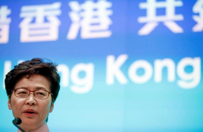 Hong Kong Chief Executive Carrie Lam. Reuters photo