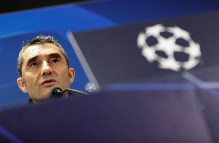 Barcelona coach Ernesto Valverde (Reuters Photo)