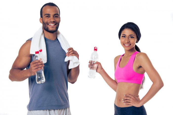 A rule of thumb is one should drink about 3 litres (12 glasses) of water per day