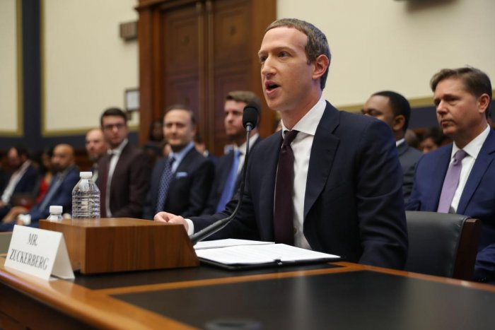 """Zuckerberg, appearing at a congressional hearing on its digital coin Libra, said during questioning that the leading social network is moving forward on a project """"supporting high-quality journalism."""" (AFP)"""