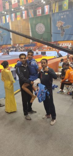 Praveen Kumar, winner of 15th World wushu championship (Twitter/@kuldeep_handoo)