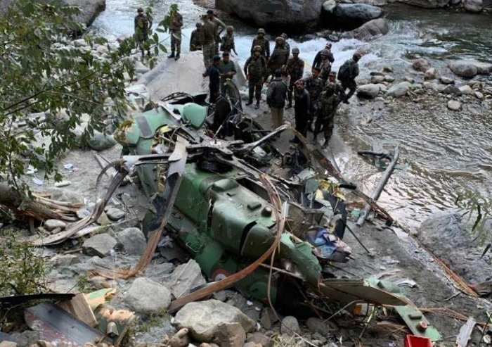 Army officials said all the nine passengers and crew on-board including Singh received injuries but there were no danger to their lives. (ANI/Twitter)