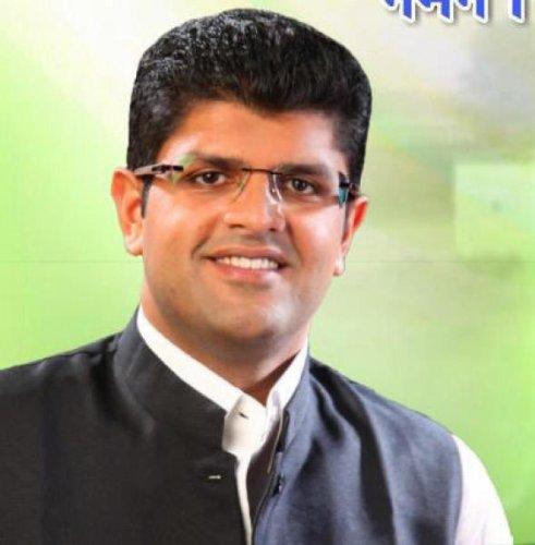 Jannayak Janta Party leader Dushyant Chautala. (PTI photo)