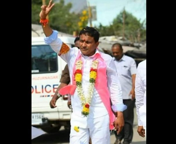 Celebrations broke out across Telangana on Thursday with TRS activists bursting crackers to celebrate the party candidate Sanampudi Saidi Reddy's thumping victory at the party headquarters and other major cities of the state. Photo/Facebook