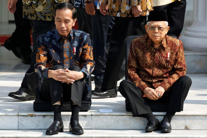 Widodo inaugurated ministers in his second-term cabinet on Wednesday, half of whom are technocrats, while the other half have links to political parties. Reuters