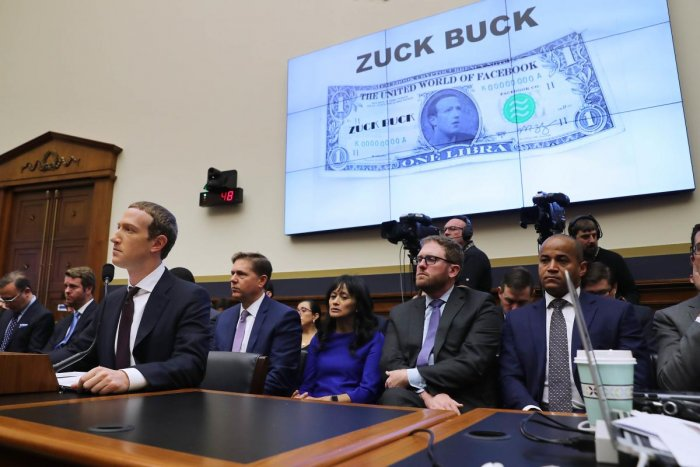 Facebook co-founder and CEO Mark Zuckerberg (L) testifies before the House Financial Services Committee in the Rayburn House Office Building on Capitol Hill October 23, 2019 in Washington (Chip Somodevilla/Getty Images/AFP)