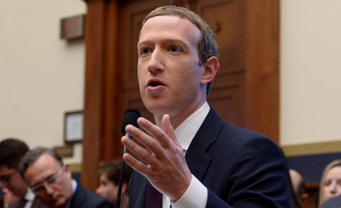 Facebook Chairman and CEO Mark Zuckerberg testifies at a House Financial Services Committee hearing on Capitol Hill in Washington. (REUTERS)
