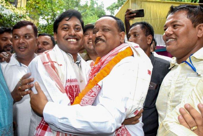 BJP candidate from Rangapara constituency Rajen Borthakur. (PTI Photo)