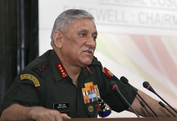 Army Chief General Bipin Rawat. PTI Photo