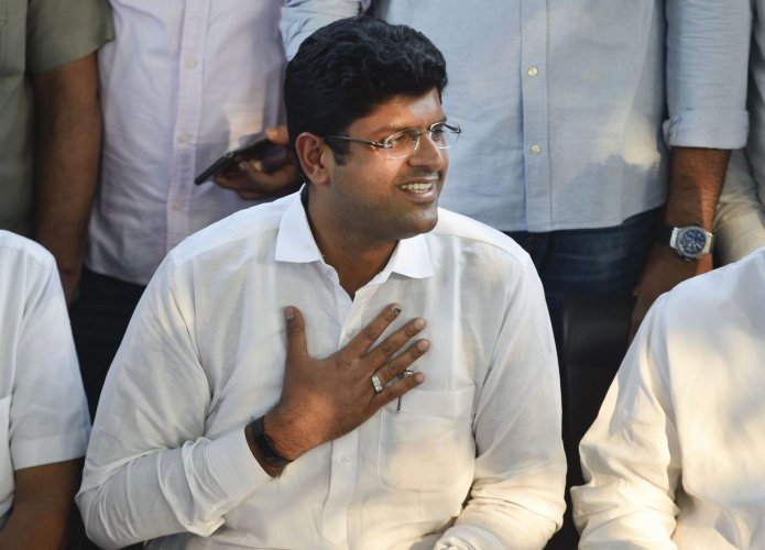 Jananayak Janata Party leader Dushyant Chautala. PTI Photo