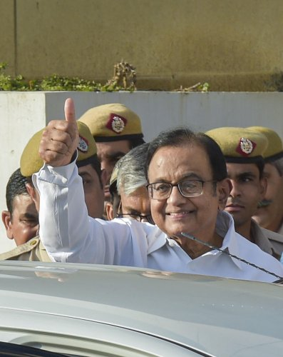 Senior Congress leader P Chidambaram. (PTI FILE PHOTO)