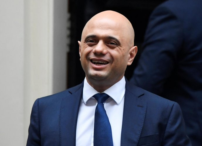 Britain's Chancellor of the Exchequer Sajid Javid (Reuters Photo)