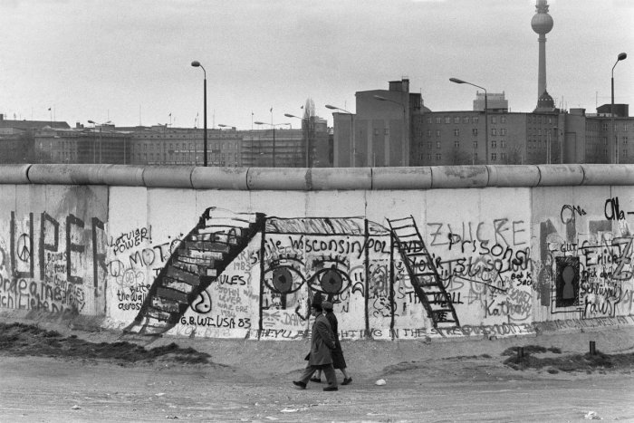 1984 photo of the Berlin Wall on the West Berlin side. (Photo of AFP)