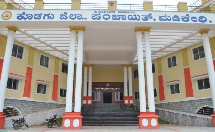 The new building of Kodagu Zilla Panchayat in Madikeri.