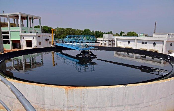 BWSSB'S 60 MLD capacity Sewage Treatment Plant at Koramangala and Challaghatta Valley in Bengaluru. DH Photo