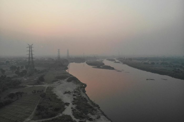 Yamuna river. AFP file photo
