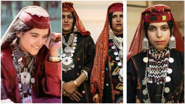 Trademark: Gujjar and Bakarwal women wear long silver chains.