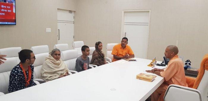 Chief Minister of Uttar Pradesh, Yogi Adityanath hadannounced financial help of Rs 15 lakh and a house to Tiwari's kin.Photo/Twitter (@rishibagree)