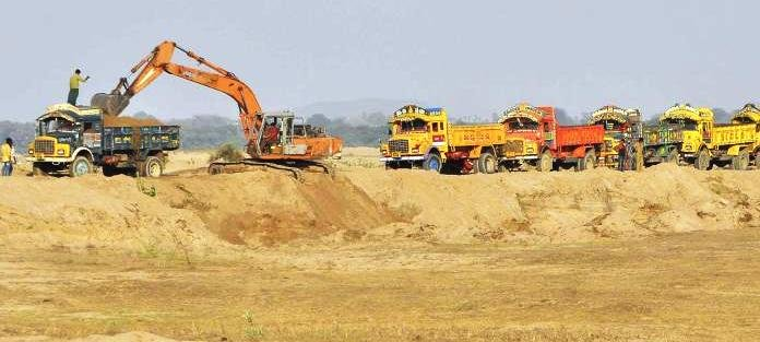 File photo of sand mining in Guntur district of Andhra Pradesh.
