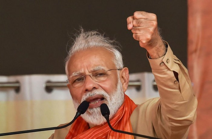 Political parties and the civil society played a mature role in uniting people when efforts were made to create fissures ahead of the 2010 Allahabad High Court ruling on the disputed land in Ayodhya, said Modi in his monthly Mann Ki Baat. Photo/PTI