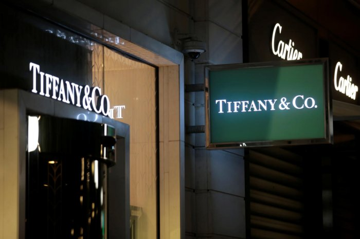 LVMH, the world's biggest luxury goods conglomerate, did not give any financial details buta source said the bid valued Tiffany at about $120 per share, equivalent to a $14.5 billion acquisition offer. Photo/Reuters