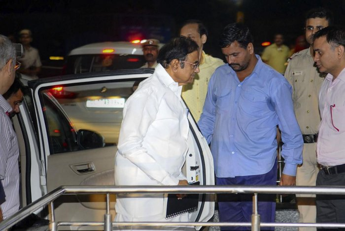 Sources said Chidambaram was taken to the RML Hospital in the morning but has now been shifted to the All India Institute of Medical Sciences. (PTI File Photo)