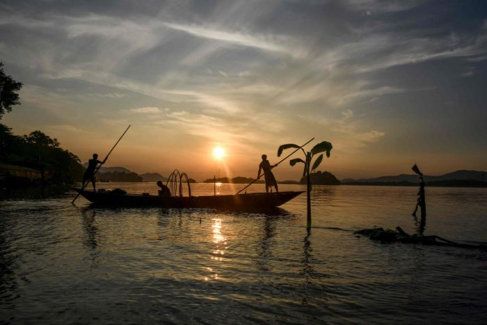 Brahmaputra river. AFP Photo