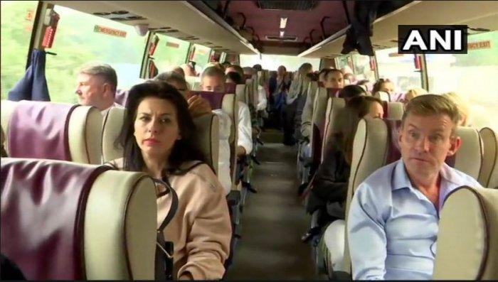 A delegation of 23 European Union MPs arrived in Srinagar. (Photo: ANI)