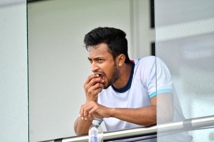 Bangladesh's top player Shakib Al Hasan (AFP Photo)