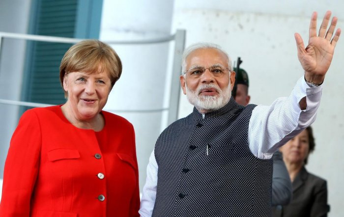 Sources said India and Germany are expected to sign about 20 agreements in a wide spectrum of areas during Merkel's two-day visit. Photo/AFP