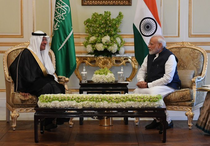 During PM Modi's first visit in 2016, King Salman conferred Saudi's highest civilian award on him. Photo/Twitter (@narendramodi)