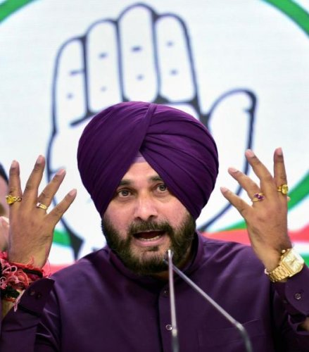 Cricketer-turned-politician Navjot Singh Sidhu. (PTI photo)