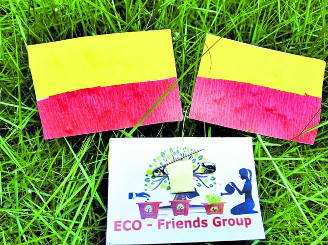 The paper seed flag by Eco Friends Group to be distributed among schoolchildren.
