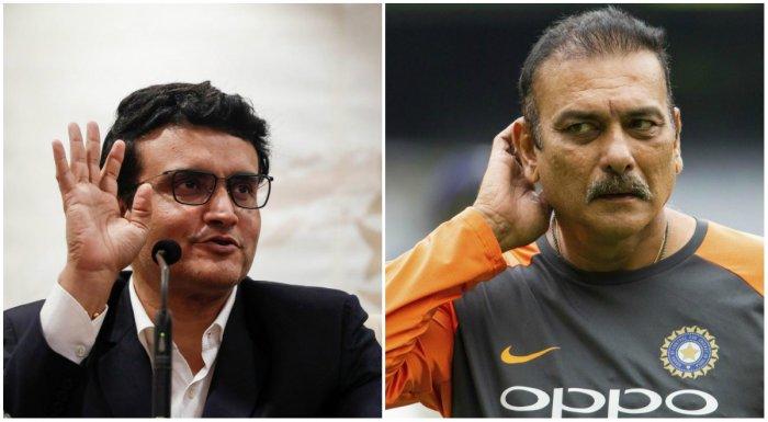 BCCI President Sourav Ganguly (L) and Indian senior team's head coach Ravi Shastri (R) (PTI Photos)