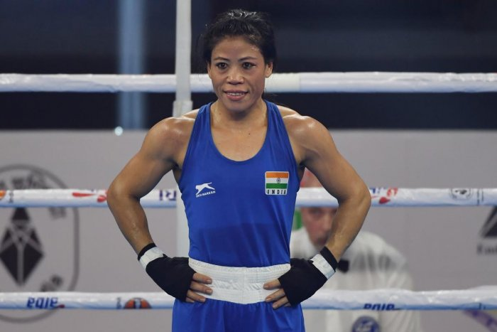"""""""It is a huge honour, sort of an achievement but also a responsibility because I have to work towards helping my fellow athletes. I will try to do my best as always,"""" said Mary Kom, who is also a Rajya Sabha MP. (Photo/AFP)"""